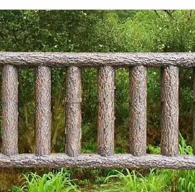 四川驰升专业栏杆厂家 直供优质水泥仿木栏杆 逼真耐用 欢迎来图定制
