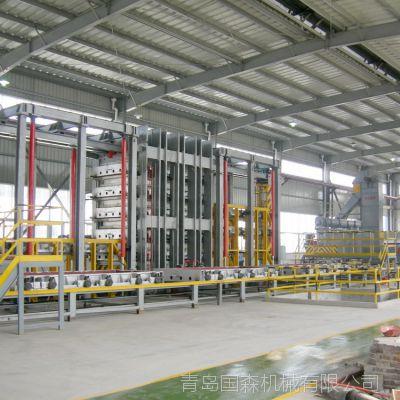 供应国内首台80-100MM特厚刨花板流水线加工设备-青岛国森机械