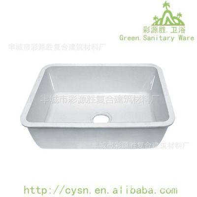 供应广东地区浴缸直销 亚克力浴缸 人造石洗手盆 人造石台面水槽一体