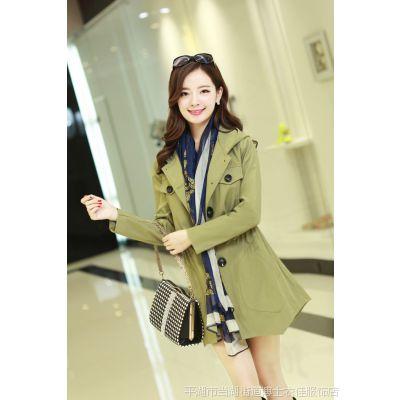 博士2015春装新款正品女装大码显瘦休闲女式风衣韩版气质春秋外套