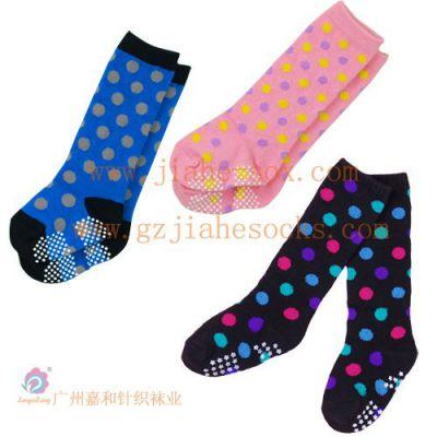 供应长筒儿童袜 点胶童袜 广州袜在生产商