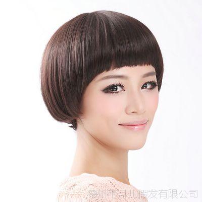 假发女生蘑菇头新款 西瓜头波波头BOBO 帅气蓬松短发 男女都适合