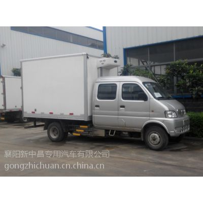 供应东风2米7双燃料双排有机蔬菜保鲜运输冷藏车