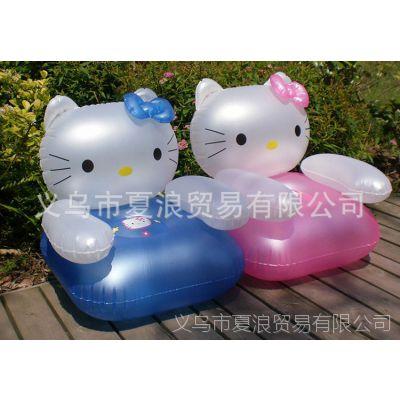 供应KT猫充气沙发 儿童充气小沙发 厂家直销