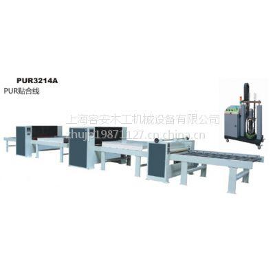 江苏容安厂家出售、石膏板表面自动贴PVC贴面生产线
