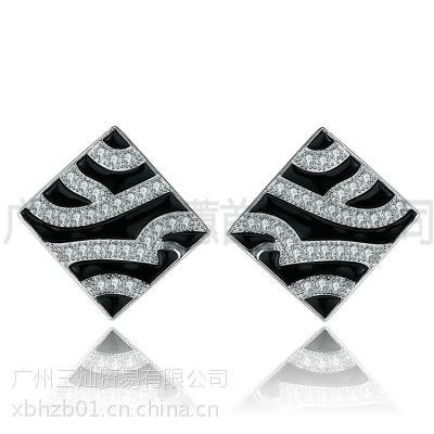 手工纯银饰品925银方形戒指广州银首饰加工耳环