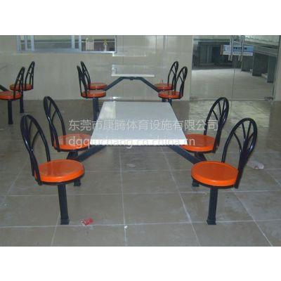 湖南饭堂餐桌椅定制 玻璃钢快餐桌椅厂家销售 广东连体餐桌批发