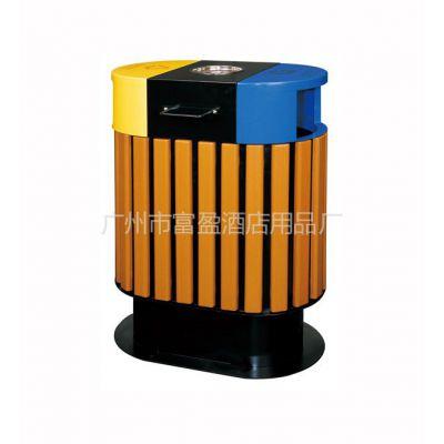 供应校园户外垃圾箱订做&分类环保垃圾桶厂家&木条垃圾桶报价