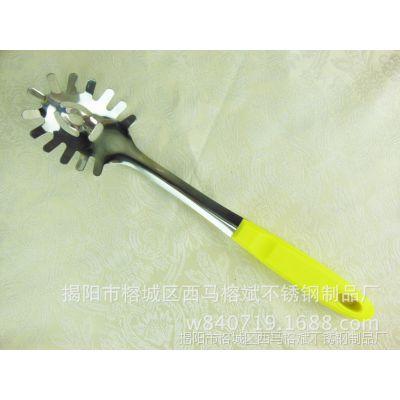 不锈钢 粉勺 彩色 夹柄1厘 厨具套装 全套勺铲子 创意汤勺大漏勺