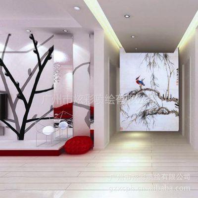 供应无纺纸壁画 PVC壁画 个性打印墙纸 墙纸喷绘加工定制