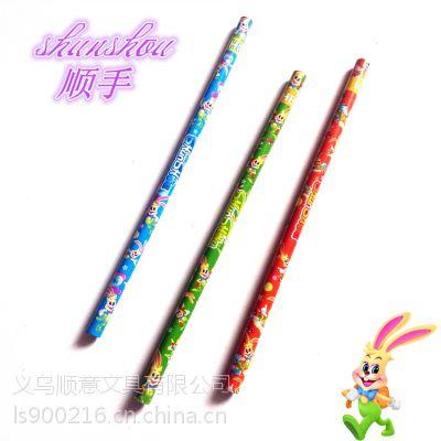 顺手牌可爱卡通铅笔 儿童环保铅笔 义乌铅笔厂家直销铅笔定制批发