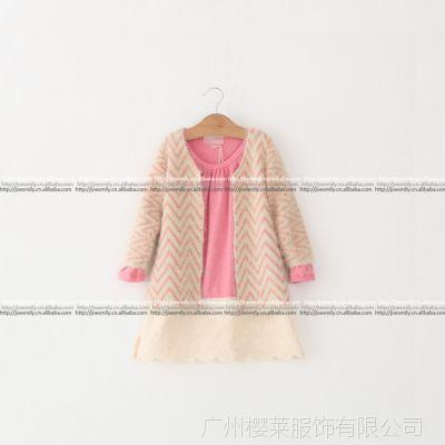 特批长款毛衣外套 韩国童装秋冬新款儿童女童 毛绒女童开衫3159