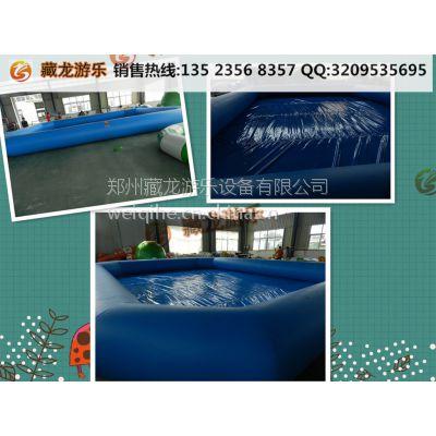 pvc水池是什么材质做的 宝宝游泳的气垫水池郑州哪定制 气垫泳池每平米价位