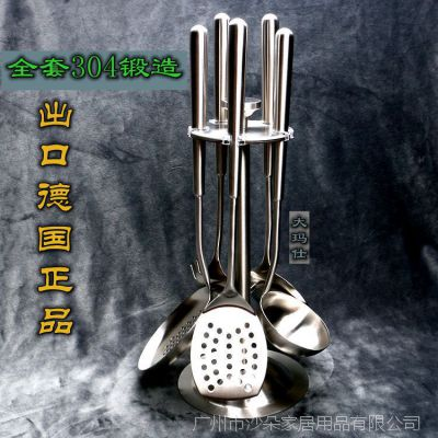 出口德国304不锈钢餐厨用品 大玛仕厨具勺铲六件套 可印LOGO