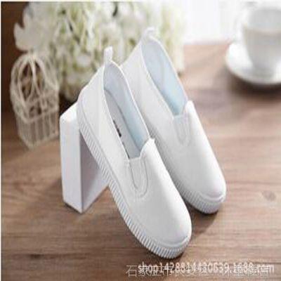 儿童白布鞋学生白色运动球鞋男女童舞蹈鞋帆鞋杂鞋特价处里
