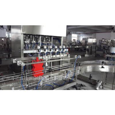 【邵峰机械】全自动润滑油灌装生产线 刹车油分装 伺服活塞式 常压 瓶 液体