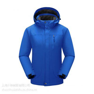 上海冲锋衣厂家 专业定做高档羽绒内胆冲锋衣 进口刺绣LOGO