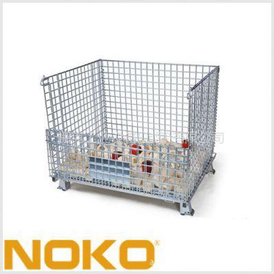 供应NOKO仓储笼,折叠钢板箱,可选带脚轮和不带脚轮型号!