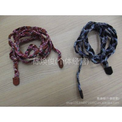 供应布料与皮革结合,编织腰带