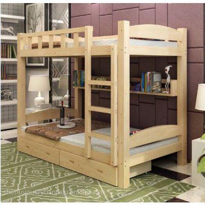 成都实木公寓床学生上下床定制