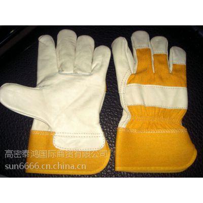 批发正品高凉短款电焊手套耐磨防热劳保手套户外作业手套