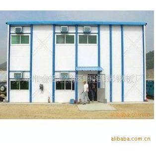 供应简单节省环保苏州标准活动板房双层钢结构活动房彩钢板
