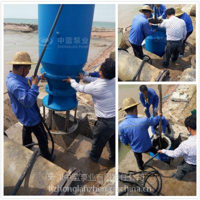 雨季大流量排水潜水轴流泵市政排水工程设备成套厂家