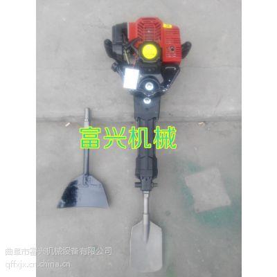 弧形铲头带土球移苗机 富兴便携式挖树机移苗机