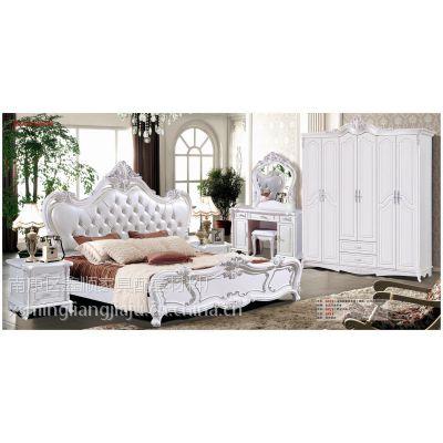 现代简约欧式组装衣柜,欧款床,欧式妆台,欧式家具厂家生产批发价格实惠