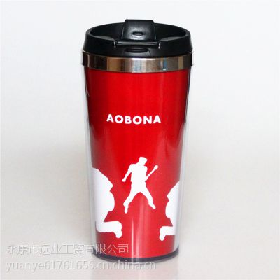 厂家批发供应不锈钢汽车杯 外塑内钢保温杯 促销礼品 定制LOGO,420ML