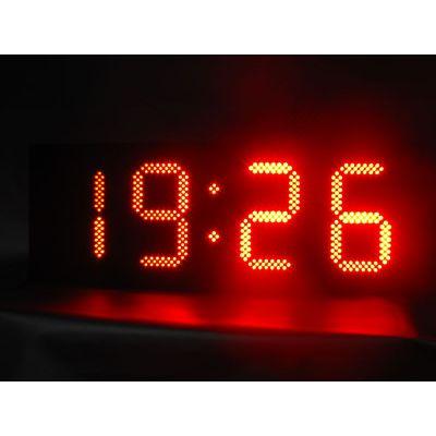 供应供应时间温度显示屏10寸红色 led时间显示 led电子显示