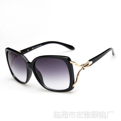 墨镜高太阳镜女士金属防紫外线蛤蟆镜女款复古眼镜大框8031眼镜