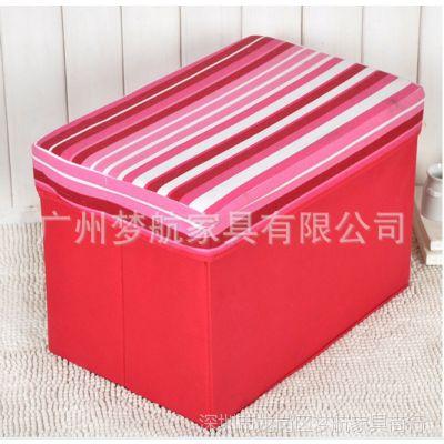 供应2013年特价长方形凳 无纺收纳凳 储物凳 换鞋凳 长条纹