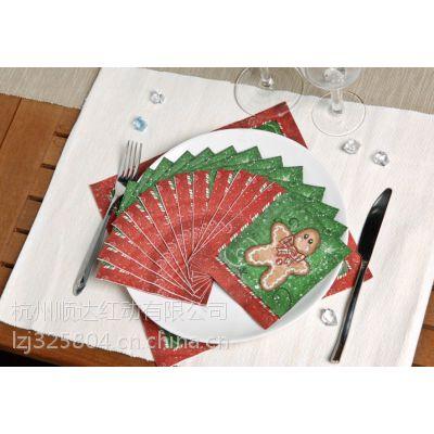 供应彩色手帕纸/软抽面巾纸/婚庆印花纸巾/广告方巾纸