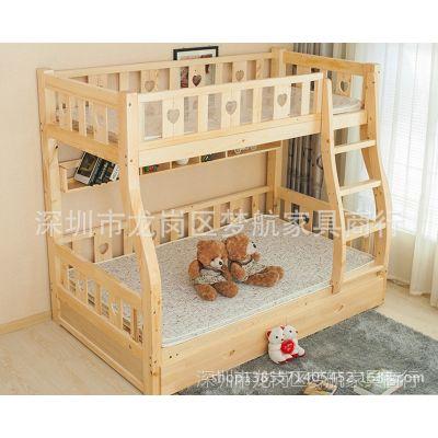 供应广州定制儿童实木床 专业好木床 梦航制造双层床