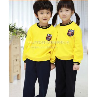 供应北京私立幼儿园夏季短袖纯棉园服套装国际中英文幼儿园礼服班服教师工作服订做生产