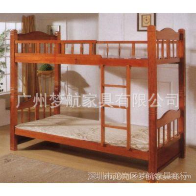 供应特价员工宿舍家具实木学生双层床/公寓床宿舍双层床寺庙床修行床