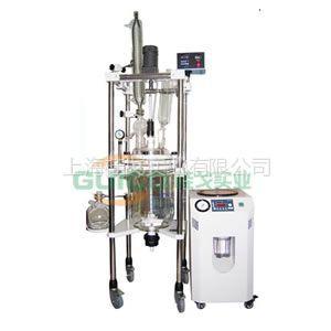 供应双层玻璃反应釜GG-50L/玻璃反应釜价格 内有挡板 使样品得以充分搅拌