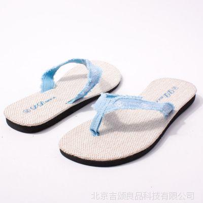 新款夏季居家拖鞋 人字拖 男女情侣居家拖鞋 平底沙滩鞋 亚麻底