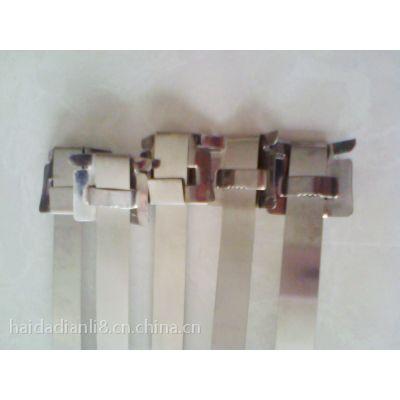山东 供应优质 电力标牌不锈钢扎带 电杆标牌专用扎带 抱箍