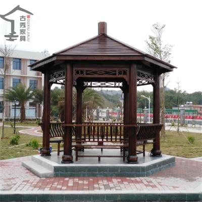 园林景观碳化木凉亭,花园景观防腐木亭子尺寸