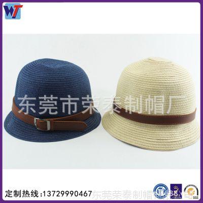 东莞帽厂生产春夏季时尚韩版草编太阳帽 遮阳大檐女式度假草帽