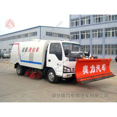供应庆铃五十铃扫地车   带扫路除雪  带推雪铲的扫地车