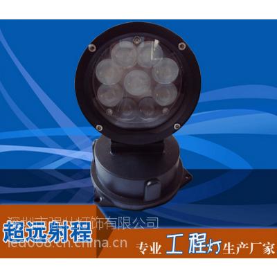 强壮推出新品圆形led投光灯27W 36W一束光远程照射专用射灯 工程照明 科锐灯珠