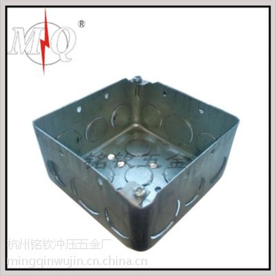 镀锌板美标4*4方形接线暗盒