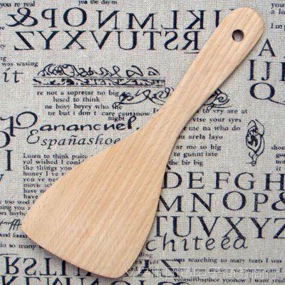 厂家供应饭铲混批厨具无漆进口榉木铲子不粘锅铲无漆菜铲小斜铲