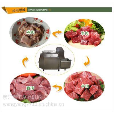120型食品冻肉切块机 不锈钢切块机 河南民生食品机械厂