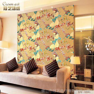 3d墙纸 立体美女客厅卧室壁纸墙纸 三维板无纺布墙纸JSQY