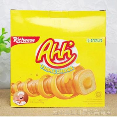 批发印尼那巴提纳宝帝Richeese丽芝士雅嘉奶酪玉米棒160g1箱*12盒