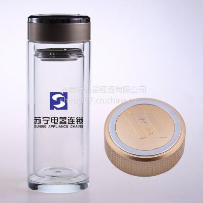 供应山西耐热水晶双层玻璃杯北京广告杯个性定制厂家诗如意